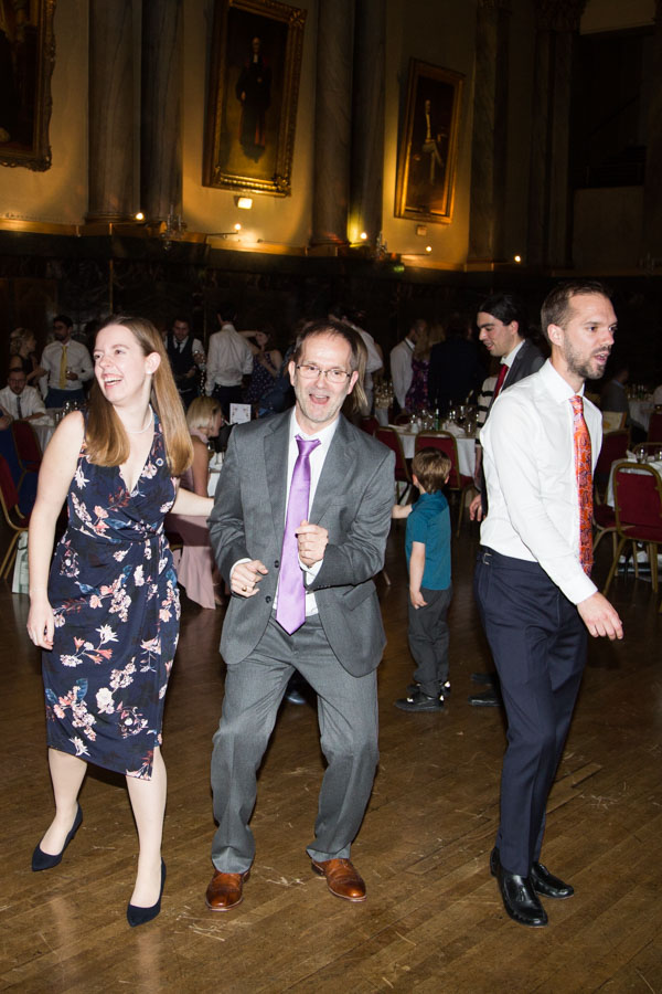 Guests on the dance floor at Cutlers' Hall Wedding Sheffield