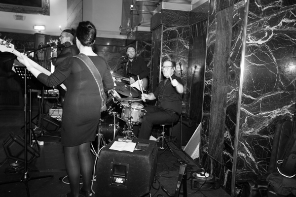 Live Band Playing at Cutlers' Hall Wedding Sheffield