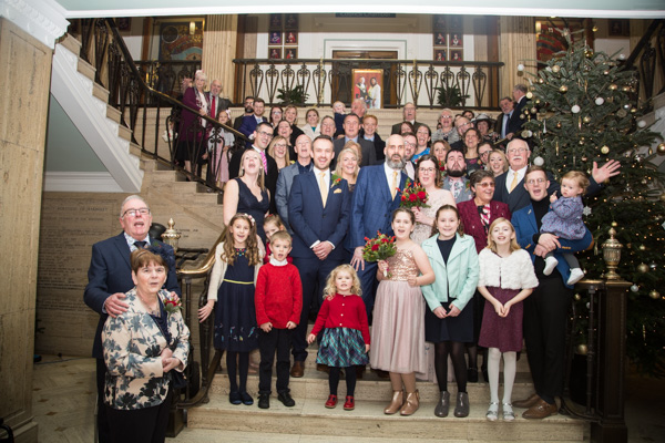 The wedding guests at Barnsley Town Hall Wedding