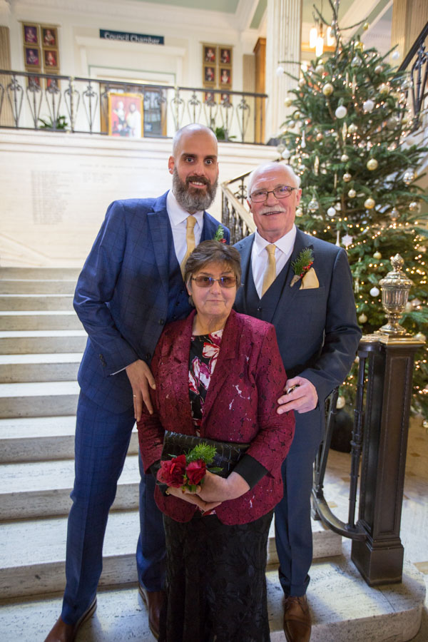 The Grooms parents at Barnsley Town Hall Wedding
