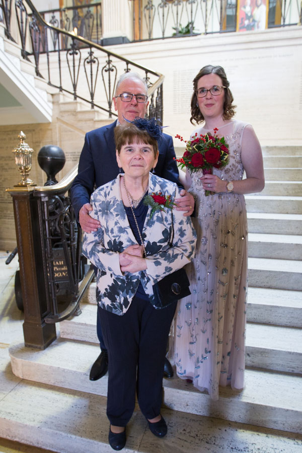 The Brides Parents at Barnsley Town Hall Wedding