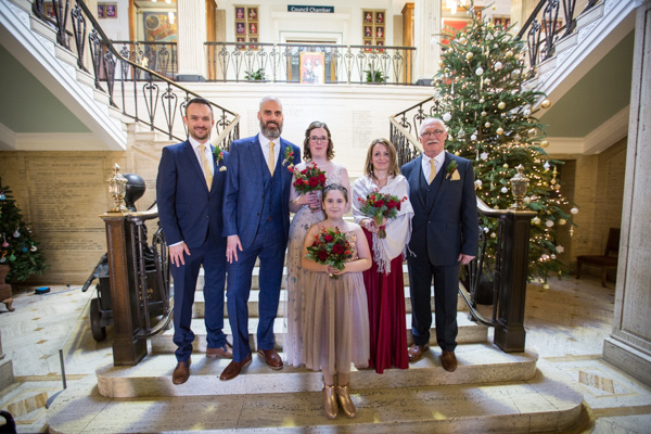 The wedding partry at Barnsley Town Hall Wedding