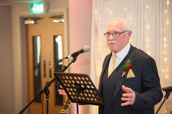 Father of the Groom blessing the marriage at Ibis Styles Hotel Barnsley wedding