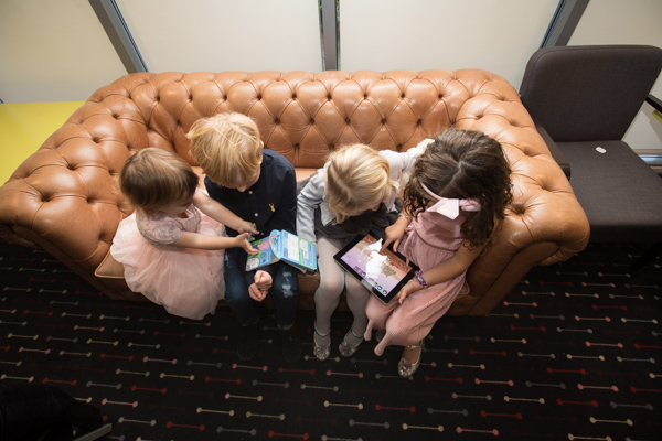 Children playing games at Ibis Styles Hotel Barnsley wedding