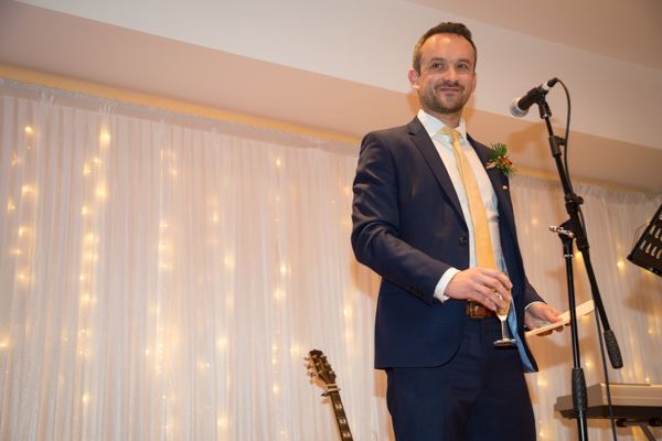 Best Man giving his speech at Ibis Styles Hotel Barnsley wedding
