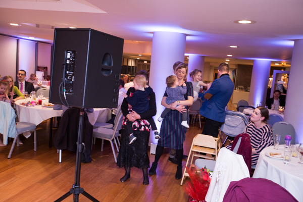Guests dancing at Ibis Styles Hotel Barnsley on the wedding day