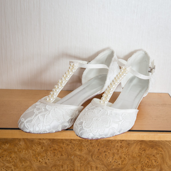 Wedding shoes with pearl detail