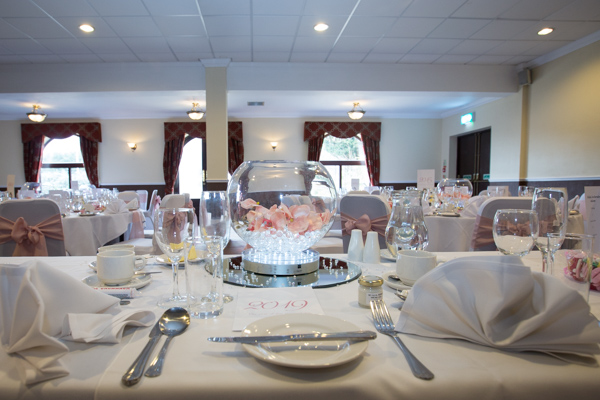 The wedding breakfast room at Holiday Inn Barnsley