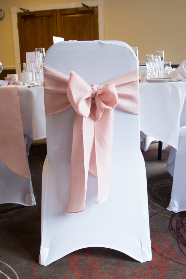 Chair cover at Holiday Inn Barnsley