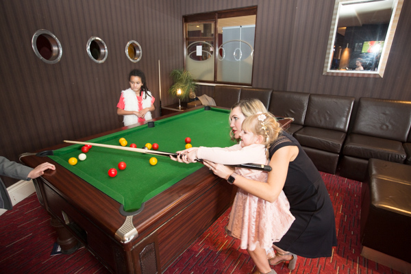 Children playing pool at Holiday Inn Barnsley