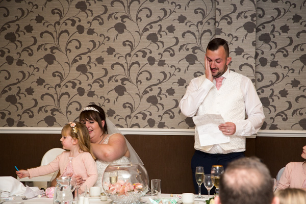 Groom giving a speech at Holiday Inn Barnsley