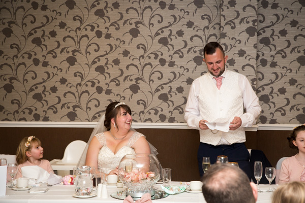 Grooms speech at Holiday Inn Barnsley