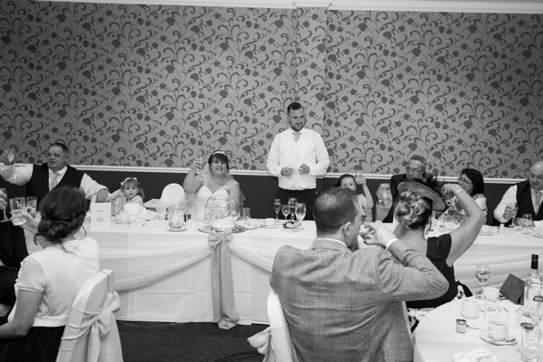 top table during speeches at Holiday Inn Barnsley