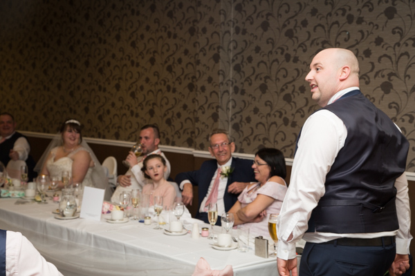 Best Man giving a speech at Holiday Inn Barnsley