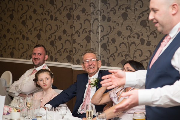 Best man giving his speech at Holiday Inn Barnsley