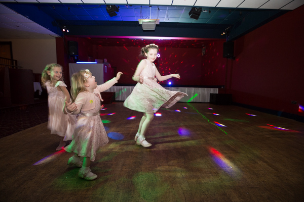 bridesmaids on the dancefloor at at Holiday Inn Barnsley