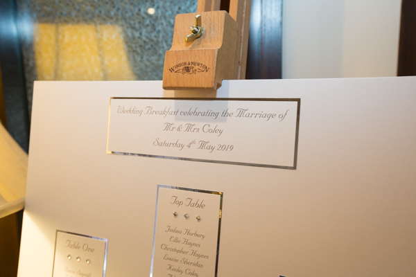 Table plan by Weddings by Dragonfly and Tankersley Manor