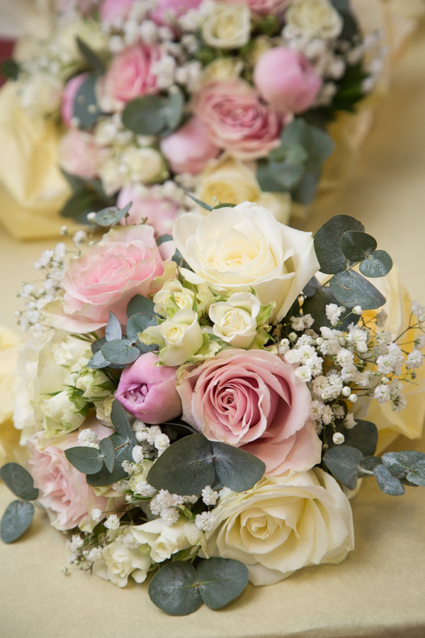The bridal bouquets by Stems Rotherham