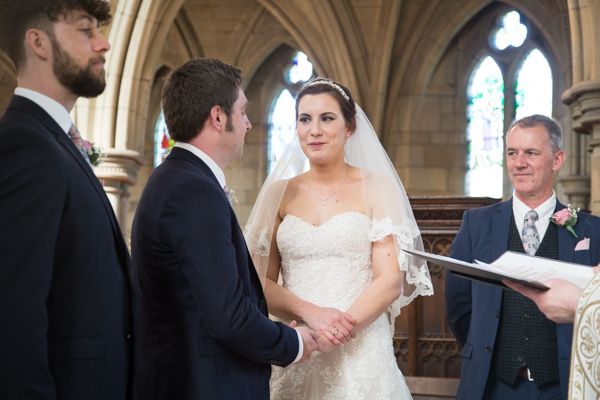 Bride and Groom saying their vows at Wentworth Church wedding ceremony