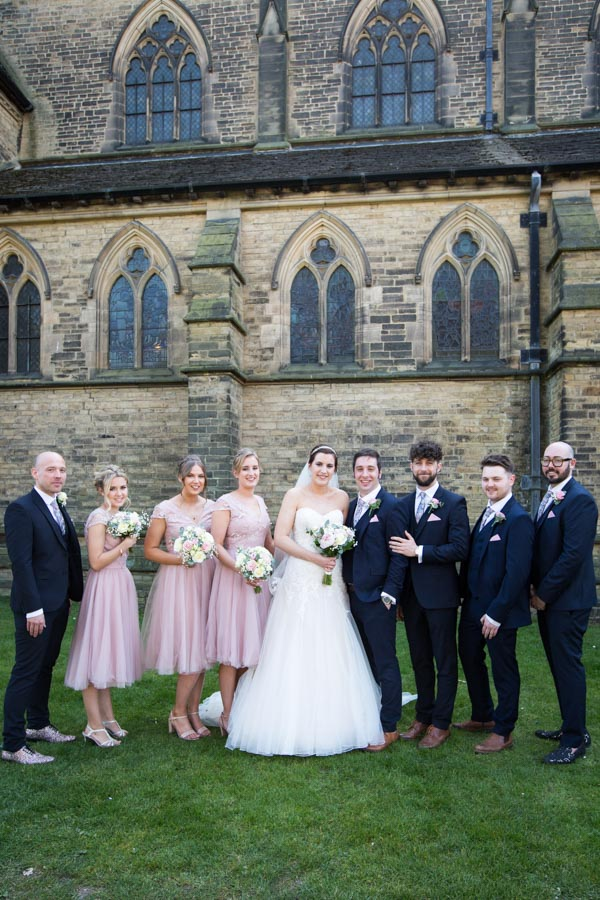 The Bridal Party outside Wentworth Church