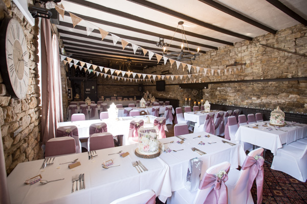 The wedding reception room at The Rockingham Arms Wentworth
