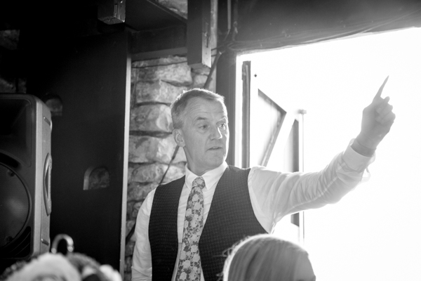 The father of the bride giving his speech at The Rockingham Arms Wentworth