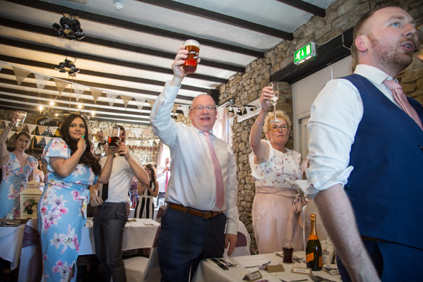 Guests raising a toast at The Rockingham Arms Wentworth