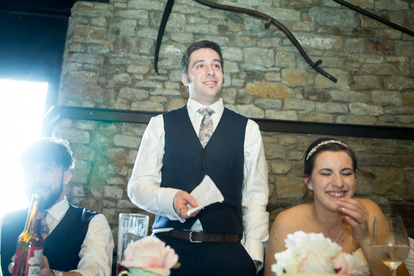 Groom giving his wedding speech at The Rockingham Arms Wentworth