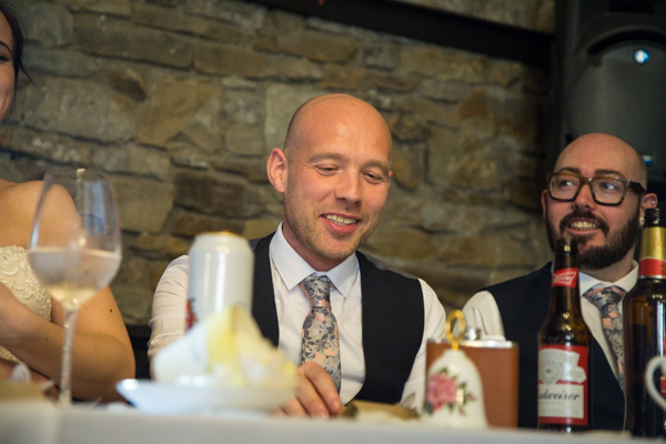 Guests laughing during the speeches at The Rockingham Arms Wentworth