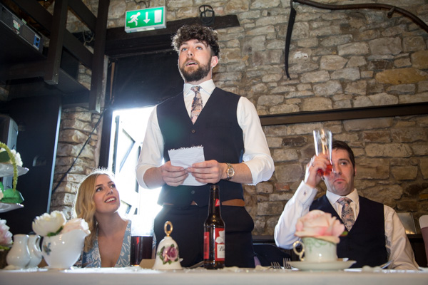 Best man giving a speech at The Rockingham Arms Wentworth
