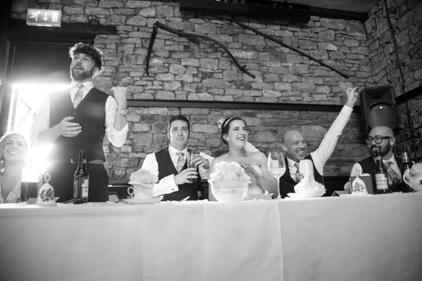 Top table reacting to speeches at The Rockingham Arms
