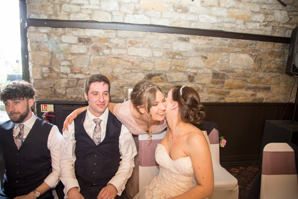 Guests congraulating the bride and groom at The Rockingham Arms