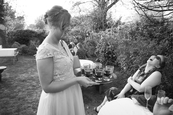 Wedding shots in the private beer garden at The Rockingham Arms