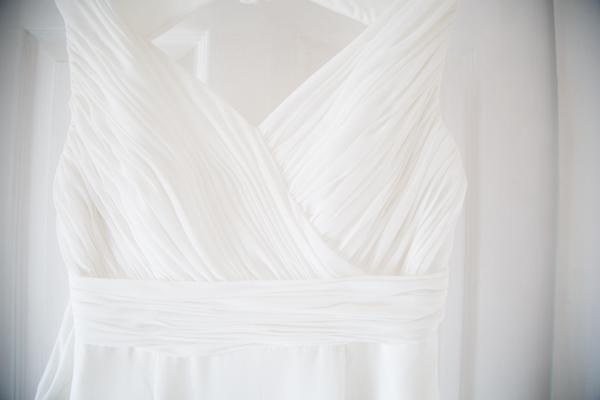 Wedding dress detail Grecian style
