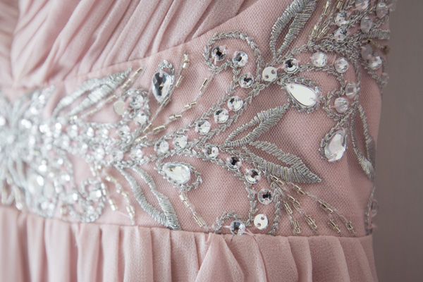 Bridesmaid dress detail from Quiz