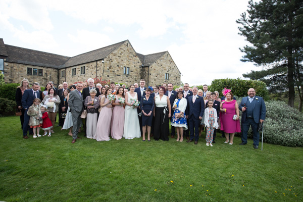 The wedding party at Tankersley Manor Hotel Wedding