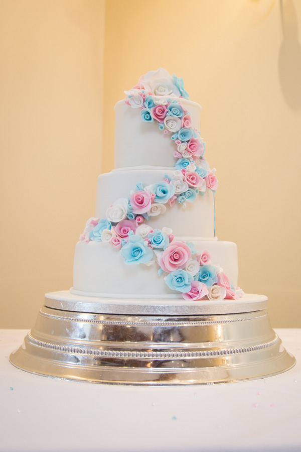 Wedding cake side one at Tankersley Manor Wedding