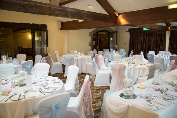 Room decoration at Tankersley Manor Wedding