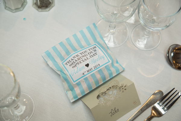 Wedding favours at Tankersley Manor Wedding
