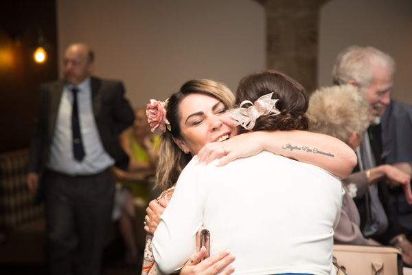 Guests hugging at Tankersley Manor Wedding