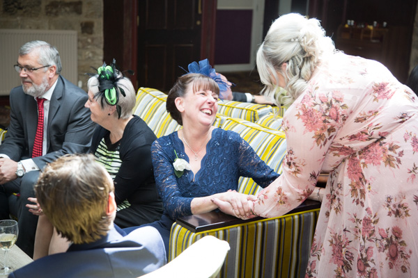 Mother of the Bride laughing at Tankersley Manor Wedding