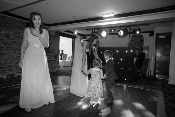 Bridesmaids dancing at Tankersley Manor Wedding