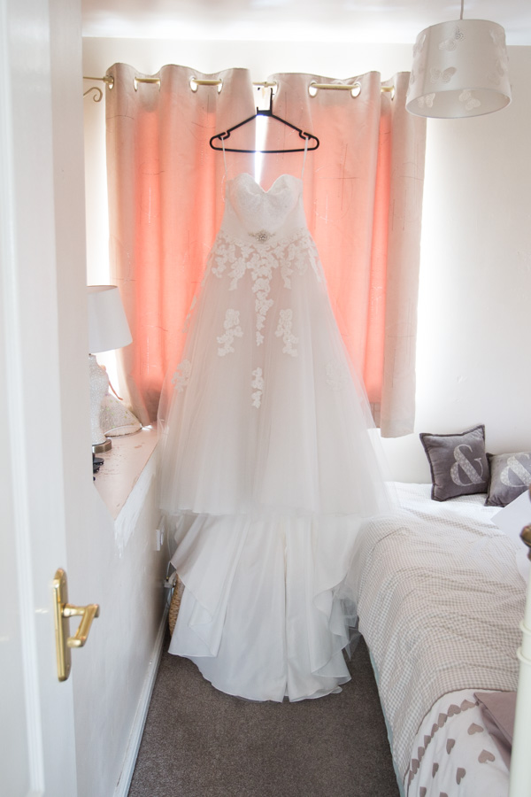 The wedding dress before it's worn