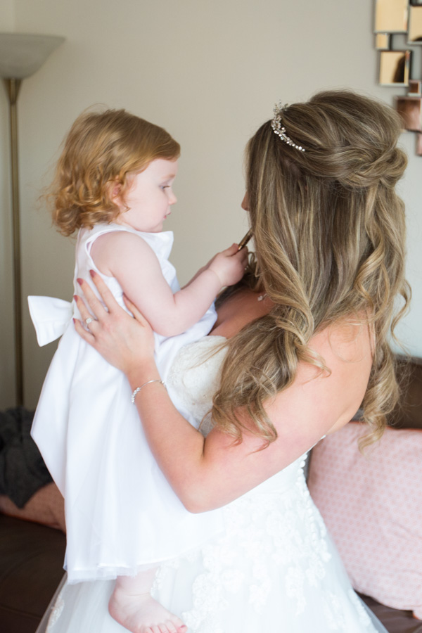 Bride and her daughter