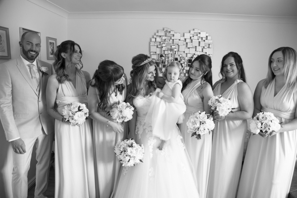 Bride and Bridesmaids before they leave for the wedding