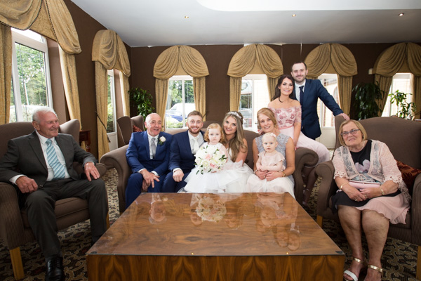 Family Photographs at Holiday Inn Barnsley Wedding