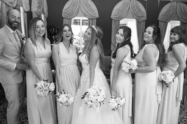 Bridesmaid photographs at Holiday Inn Barnsley Wedding