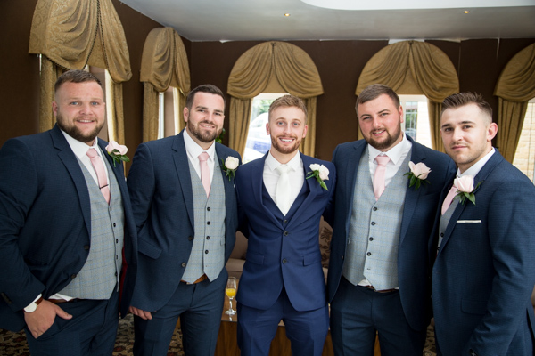 Groomsmen photographs at Holiday Inn Barnsley Wedding