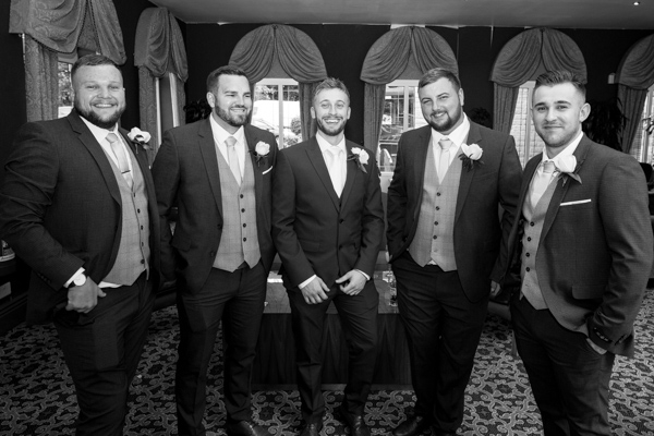 Groomsman photographs at Holiday Inn Barnsley Wedding
