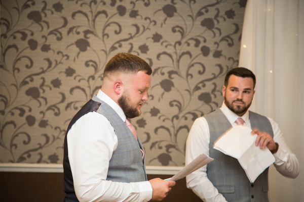 The wedding speeches at Holiday Inn Barnsley Wedding